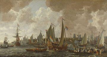 De aankomst van koning Karel II van Engeland te Rotterdam, 24 mei 1660