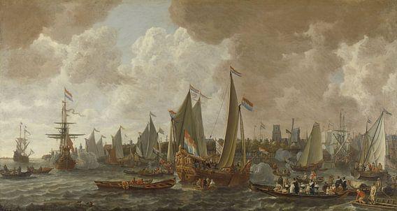 De aankomst van koning Karel II van Engeland te Rotterdam, 24 mei 1660 van Rebel Ontwerp