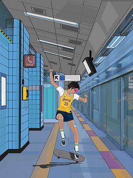 cyber punk subway von Sfez