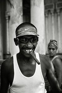 Kuba Havanna Mann mit Zigarre