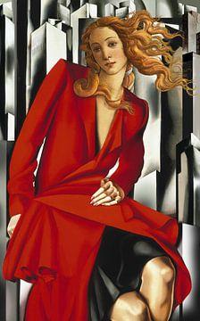 Venus herboren in Art Deco II van Jerome Coppo