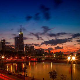 CHICAGO Sunset van Melanie Viola