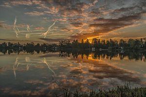 zonsopkomst aan de Reeuwijkse plassen van