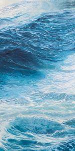 Rechterpaneel  Drieluik - Windkracht 10 op de oceaan van Bert Oosthout