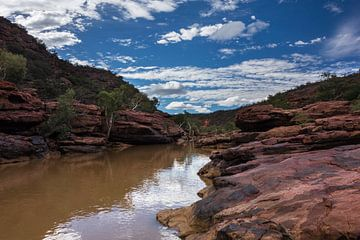Rivier in Kalbarri Nationaal Park West Australië van