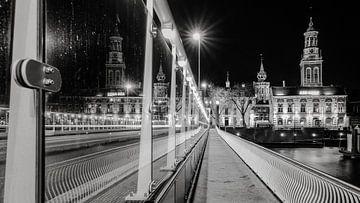 Detailopname van stadsbrug in Kampen, Nederland van Fotografiecor .nl