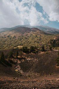 Uitzicht over de Etna vulkaan in Sicilië, Italië
