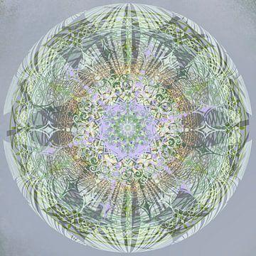 Kaleidoskop, grün und grau von Rietje Bulthuis