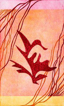 Pflanze Vogel von Godelieve Kunst