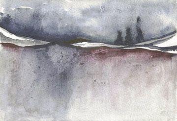 Endless Wood 1 (left side of 2 part Artwork) van Jolanda Janzen-Dekker