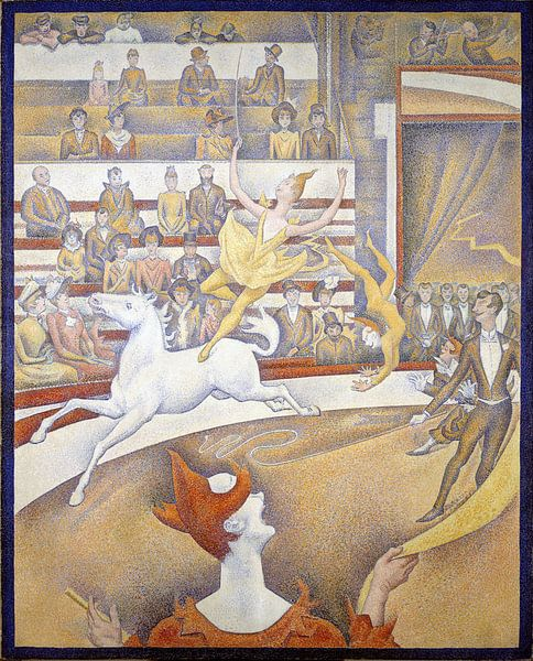 Der Zirkus, Georges Seurat von 1000 Schilderijen