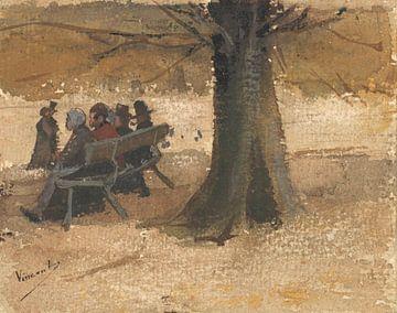 Vier Leute auf einer Bank, Vincent van Gogh