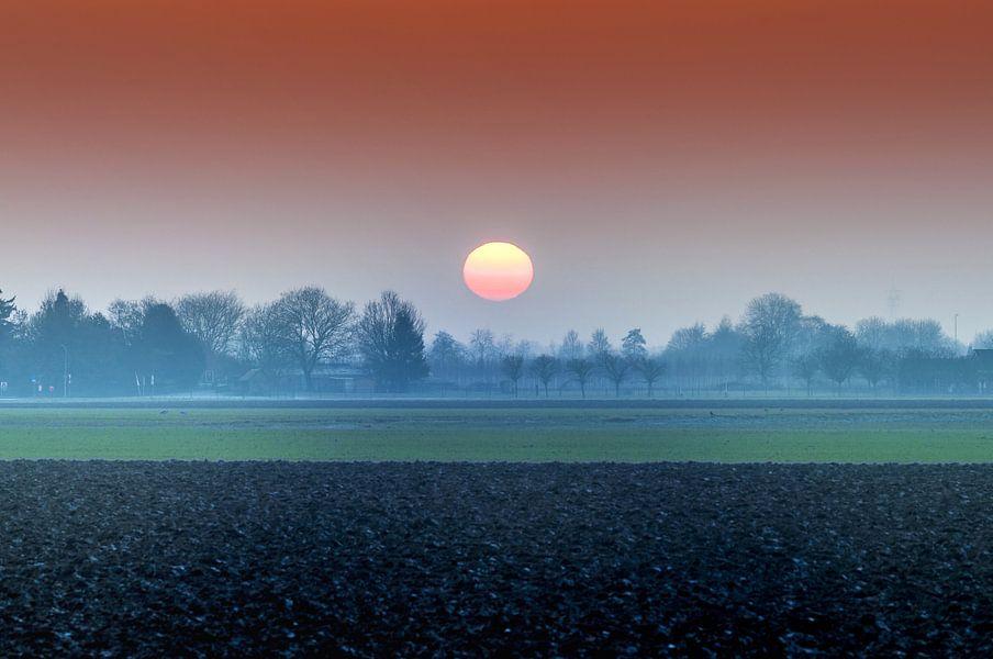 Winterzon in Nederland van Fotografie Arthur van Leeuwen