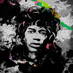 Jimi Hendrix Punk Pop Art 1120016