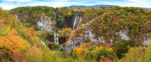 Panorama Plitvice watervallen, Kroatië