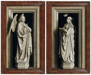 Jan van Eyck - Aankondiging, tweeluik