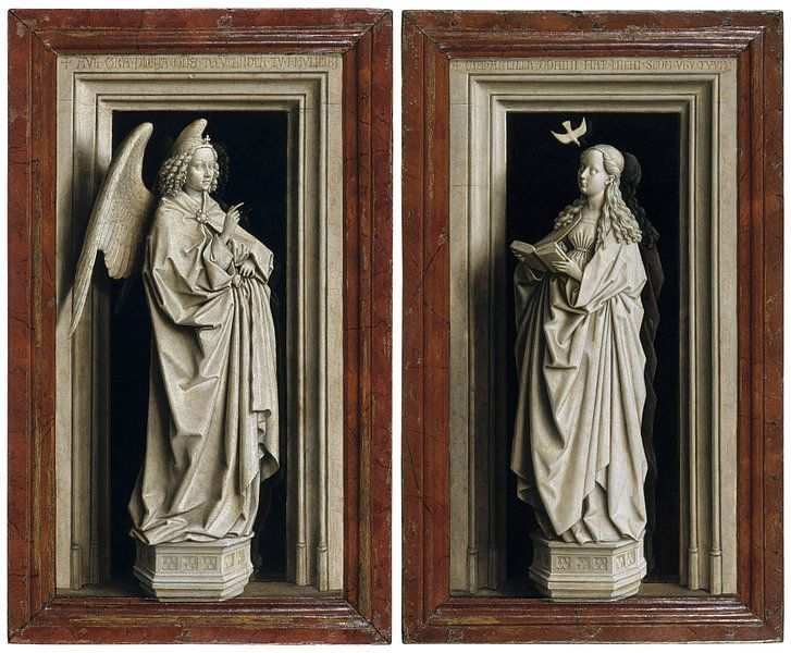 Jan van Eyck - Aankondiging, tweeluik van 1000 Schilderijen