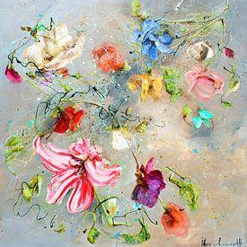 Fliegende Blumen von Atelier Paint-Ing