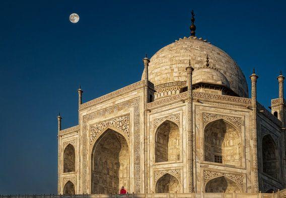 Taj Mahal India van Marcel van Balken