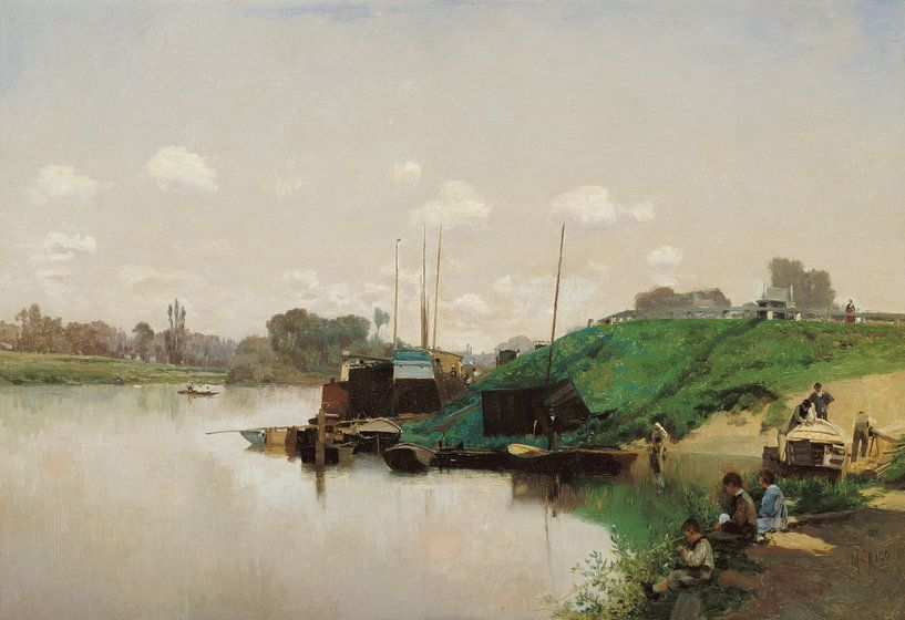 Martín Rico Ortega~Ein Sommertag an der Seine von finemasterpiece