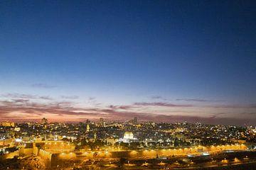 Sonnenuntergang über Jerusalem von Sander Jacobs