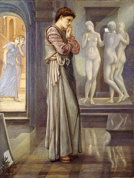 Edward Burne-Jones - Pygmalion en het beeld - de hartenbehoeften van