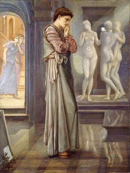 Edward Burne-Jones - Pygmalion en het beeld - de hartenbehoeften van 1000 Schilderijen