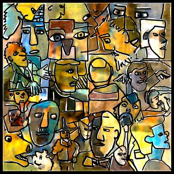 Vrome mannen en andere figuren van Henk van Os