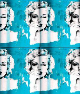 Marilyn Monroe light blue Collage