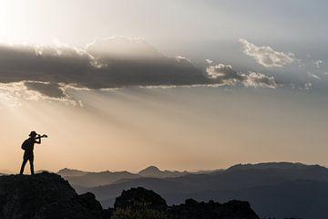 Selfie tijdens zonsondergang van Photolovers Reisfotografie