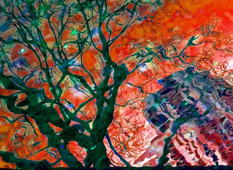 Urban Painting 123 - Rood/Groen van MoArt (Maurice Heuts)