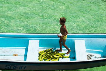Bananenverkoper van Lucas De Jong