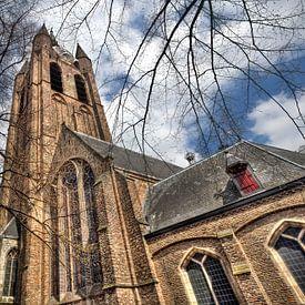 Oude Kerk in Delft van Jan Kranendonk