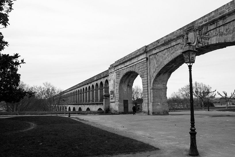View of the aqueduct from the Promenade de Peyrou, Montpellier van Luis Fernando Valdés Villarreal Boullosa