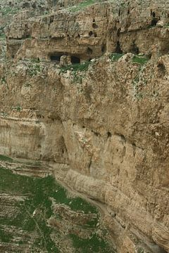 Der Berg der Versuchung Jesu Christi in der Nähe von Jericho. von Michael Semenov