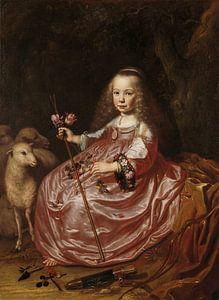 Portret van Clara Alewijn, Dirck Dircksz. van Santvoort