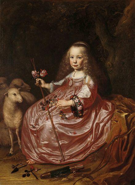 Portret van Clara Alewijn, Dirck Dircksz. van Santvoort van Meesterlijcke Meesters