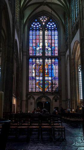 Glas in lood, Domkerk Utrecht. van
