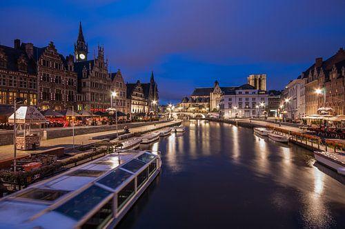 Graslei in Gent, Belgium
