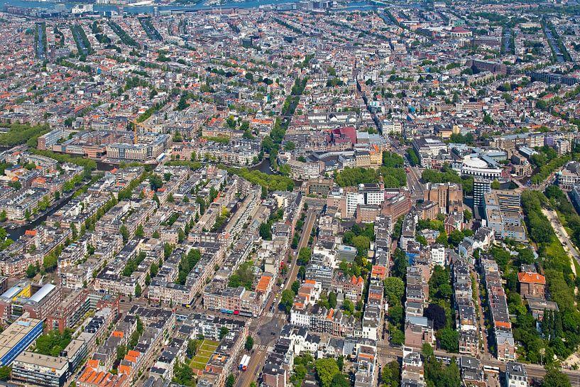 Luchtfoto oud-west te Amsterdam van Anton de Zeeuw