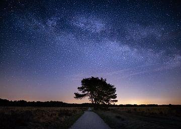 Melkweg boven de Veluwe van Jeroen Linnenkamp