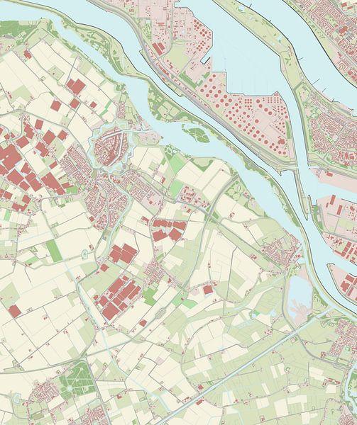 Kaart vanBrielle