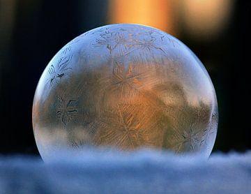 Frozen bubble 01 van Stefanie van Dijk