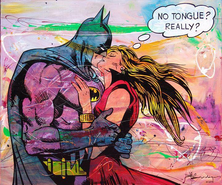 Batman Kissing van Frans Mandigers