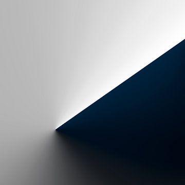 Blauwe kegelvormige helling van Jörg Hausmann
