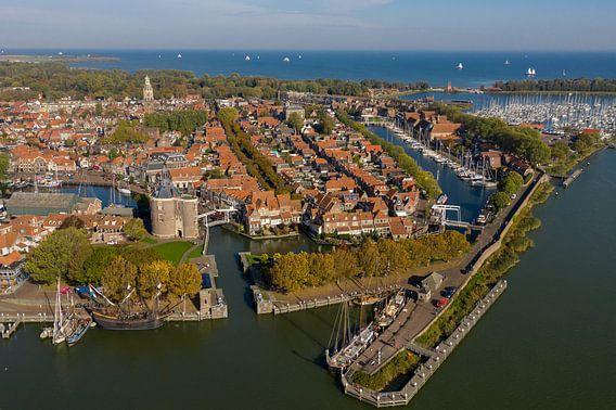 Luchtfoto van Enkhuizen