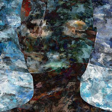 Abstraktes Grunge-Porträt Frau von Maurice Dawson