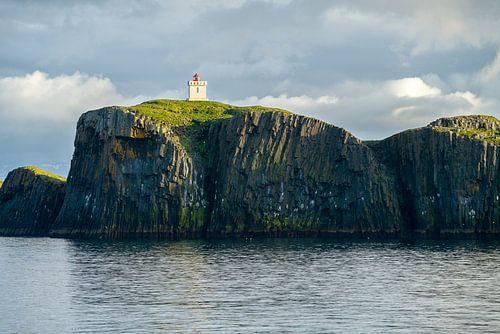 De vuurtoren van Elliðæy, IJsland van
