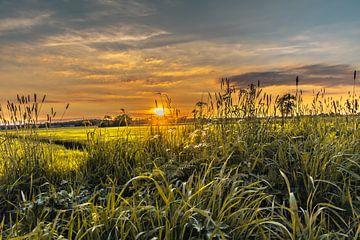 Zonsondergang in Twente van Stedom Fotografie