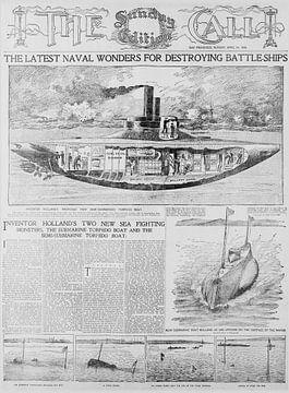 Entwurf eines U-Boots von 1898 von Atelier Liesjes